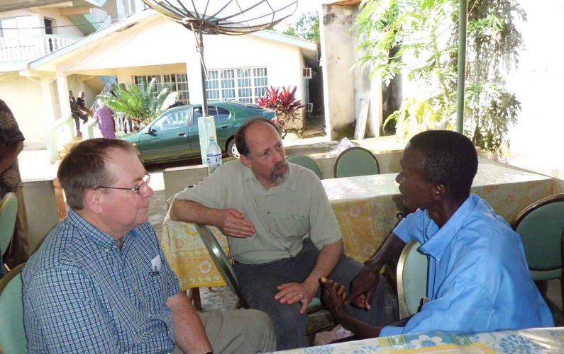 David Snyder and Jim Laesch in Africa