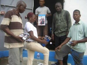 Aminata distributing radios